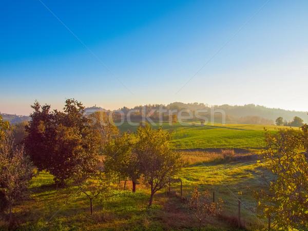 Hill krajobraz panorama widoku wzgórza Zdjęcia stock © claudiodivizia