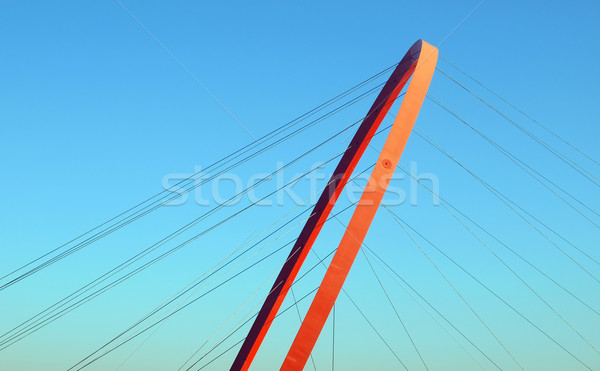 Pedestrian bridge Stock photo © claudiodivizia