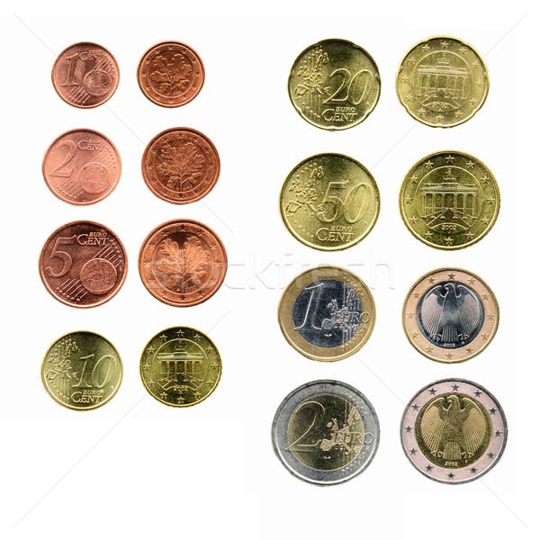евро монеты валюта европейский Союза деньги Сток-фото © claudiodivizia