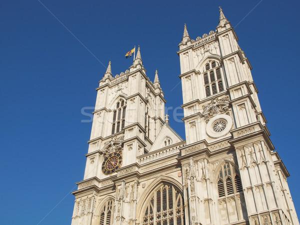 Westminster apátság templom London retro Anglia Stock fotó © claudiodivizia