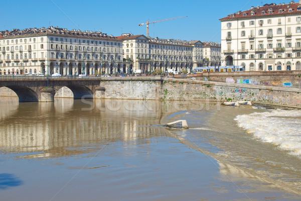 Torino piazza Italia retro architettura vintage Foto d'archivio © claudiodivizia