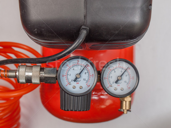 Air compressor manometer Stock photo © claudiodivizia
