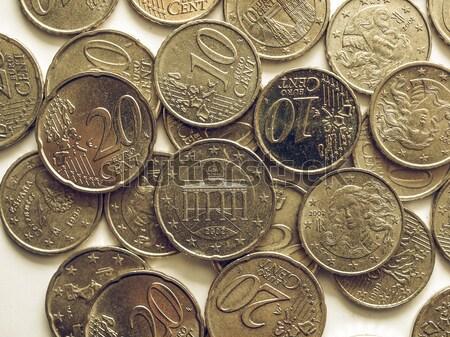 Roma madeni para eski siyah para arka plan Stok fotoğraf © claudiodivizia