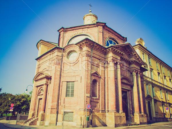 Retro look San Michele Church, Turin Stock photo © claudiodivizia