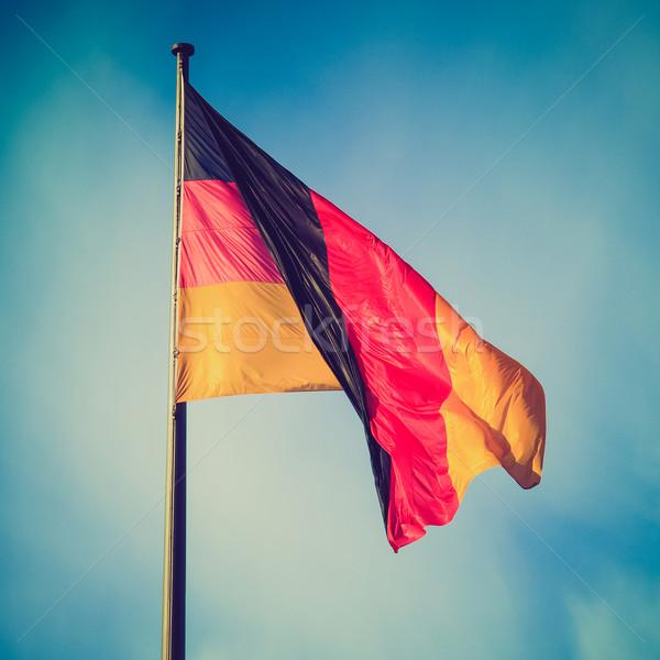Retro look German flag Stock photo © claudiodivizia