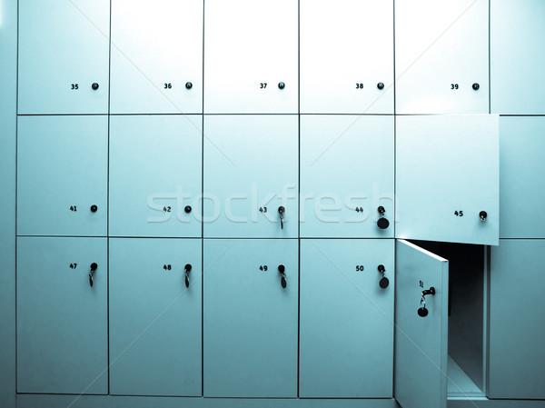 Kép szekrényes öltöző iskola múzeum állomás hideg Stock fotó © claudiodivizia