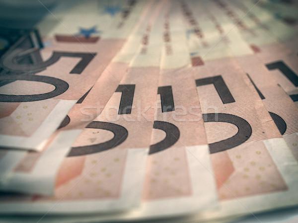Retro aussehen Euro Jahrgang schauen Bereich Stock foto © claudiodivizia