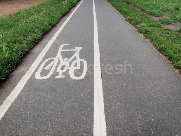 Bike lane sign Stock photo © claudiodivizia