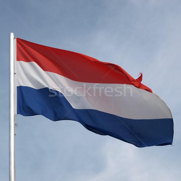 Banderą Luksemburg Błękitne niebo Zdjęcia stock © claudiodivizia