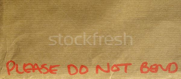 Please do not bend Stock photo © claudiodivizia
