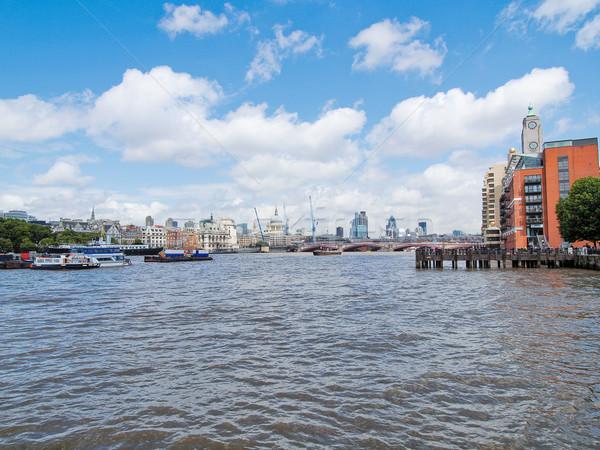 Rivière thames Londres panoramique vue tour Photo stock © claudiodivizia