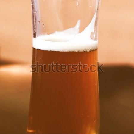 Bira resim detay cam içmek alkol Stok fotoğraf © claudiodivizia
