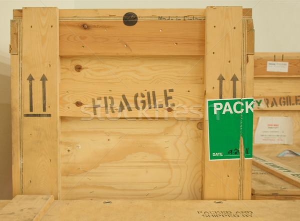 Wood box Stock photo © claudiodivizia