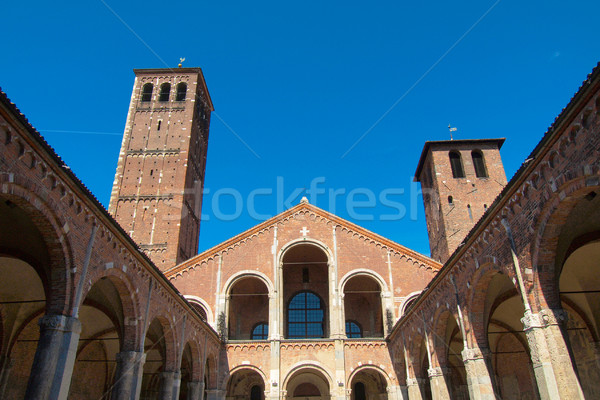 Sant Ambrogio church, Milan Stock photo © claudiodivizia