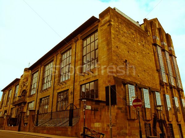 Retro guardare Glasgow scuola arte vintage Foto d'archivio © claudiodivizia