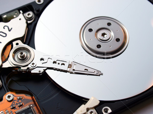 Merevlemez részlet mágneses számítógép internet szerver Stock fotó © claudiodivizia