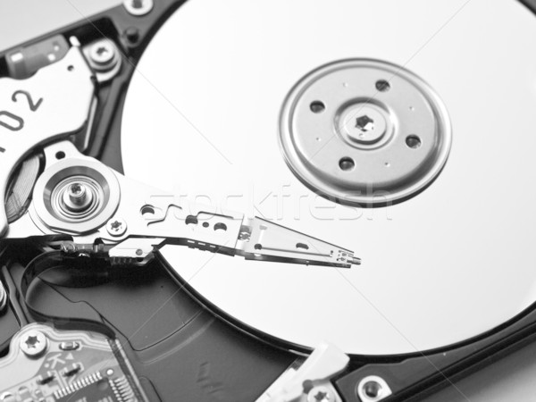 Festplatte Detail magnetische Computer Web Kopf Stock foto © claudiodivizia