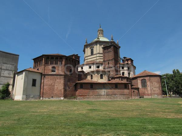 Igreja milan basílica Itália vintage europa Foto stock © claudiodivizia
