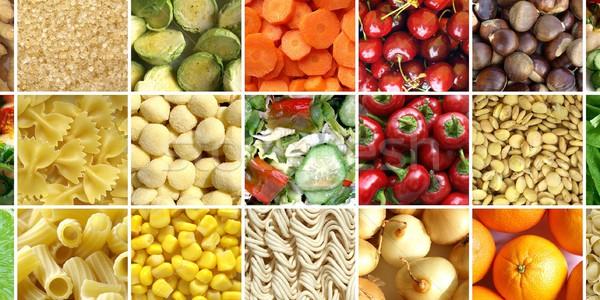 Food collage Stock photo © claudiodivizia