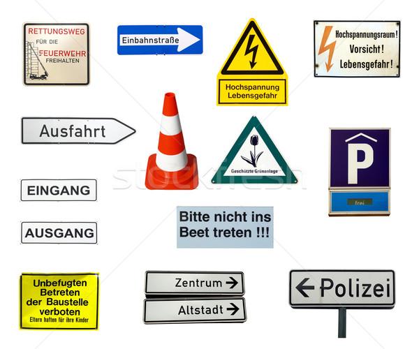 German signs Stock photo © claudiodivizia