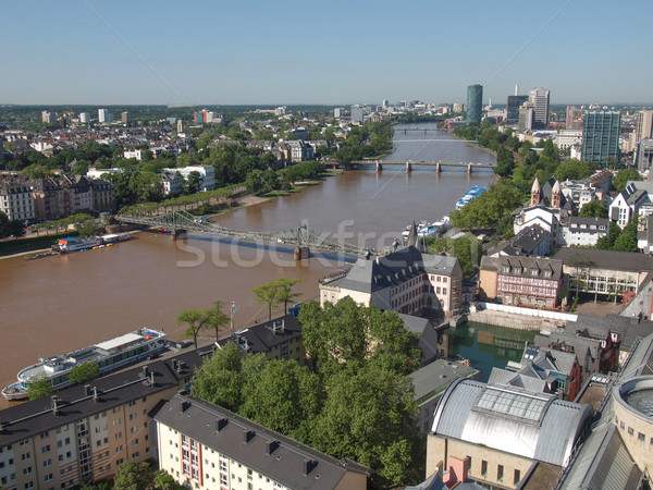 Aerial view of Frankfurt Stock photo © claudiodivizia