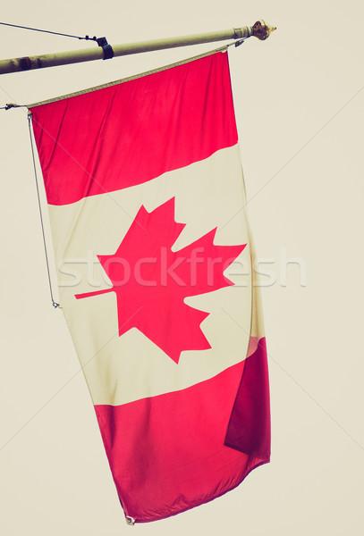 Photo stock: Rétro · Rechercher · Canada · pavillon · vintage · regarder
