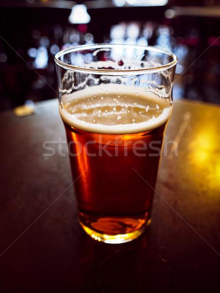 Pint bier vintage naar Engels bitter Stockfoto © claudiodivizia