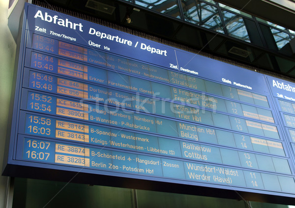 Timetable Stock photo © claudiodivizia