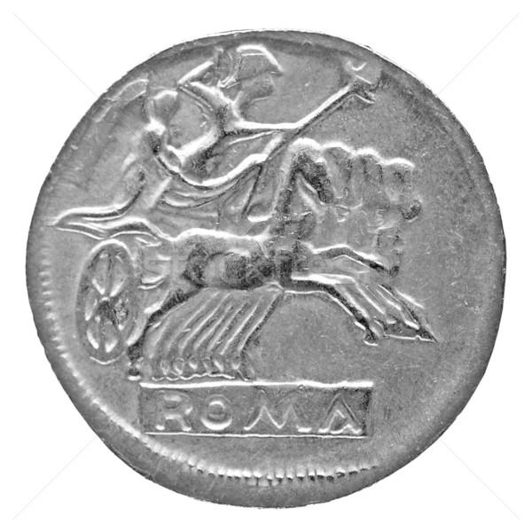 Romano moeda antigo isolado branco dinheiro Foto stock © claudiodivizia