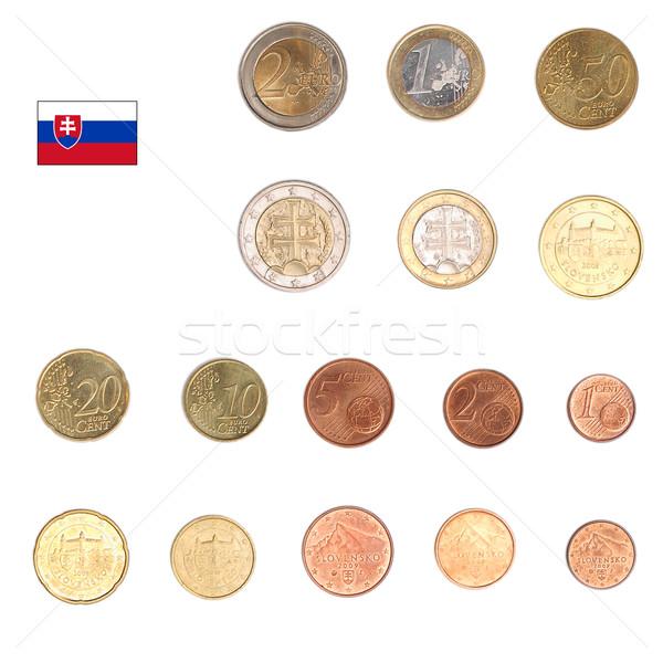 евро монеты Словакия монетами оба международных Сток-фото © claudiodivizia