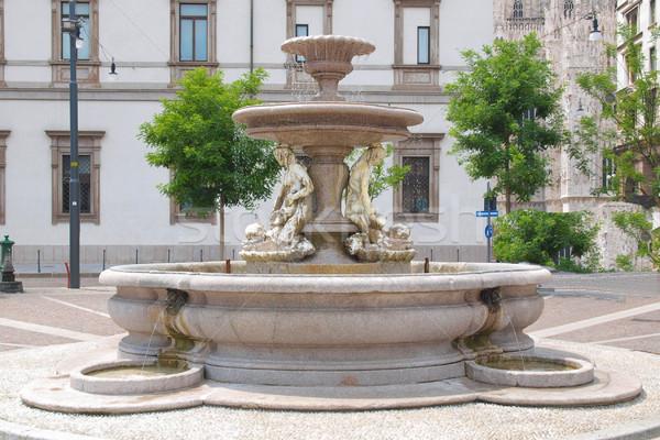 Fontein milaan Italië architectuur vintage sculptuur Stockfoto © claudiodivizia
