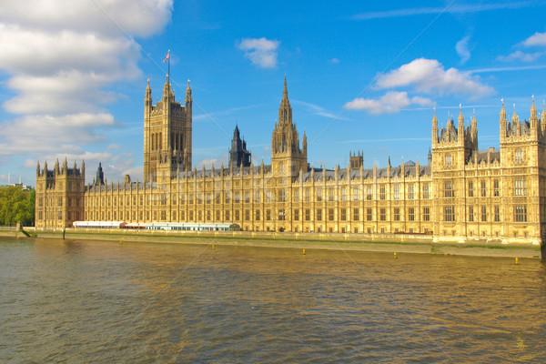 Evler parlamento westminster saray Londra Gotik Stok fotoğraf © claudiodivizia