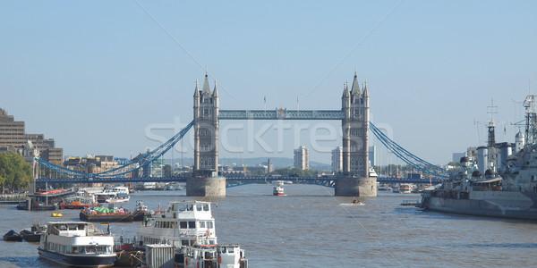 Tower Bridge Londra fiume thames acqua torre Foto d'archivio © claudiodivizia