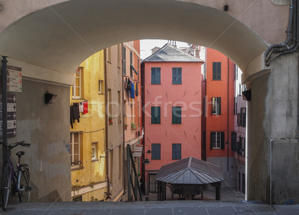 Genoa old town Stock photo © claudiodivizia