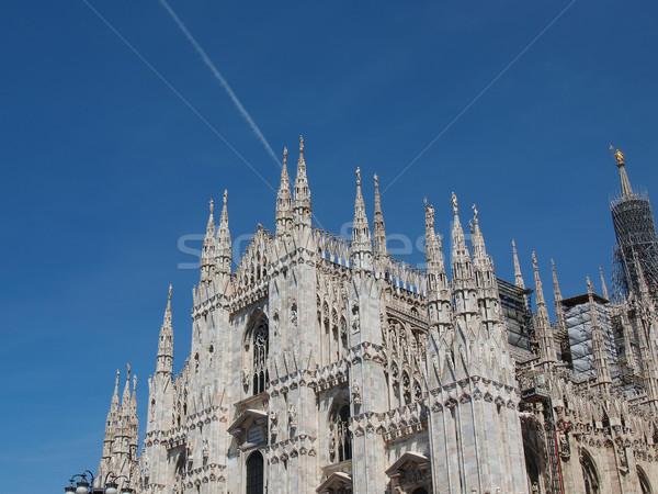 Milaan gothic kathedraal kerk Italië Stockfoto © claudiodivizia