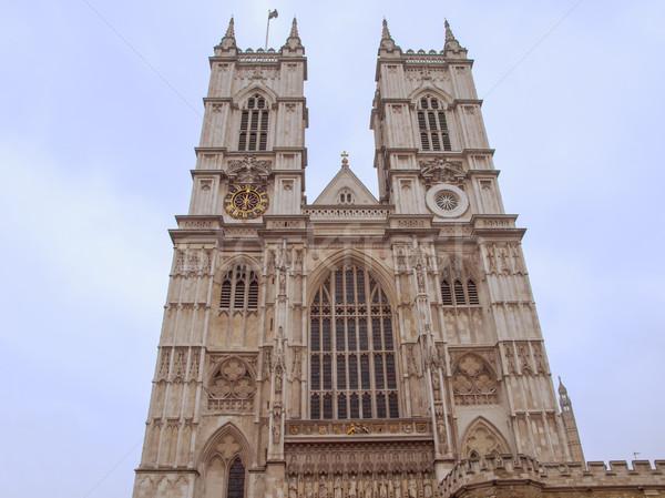 Westminster abadia igreja Londres retro inglaterra Foto stock © claudiodivizia