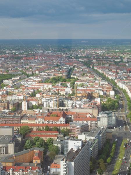 Berlin légifelvétel kilátás város Németország sziluett Stock fotó © claudiodivizia