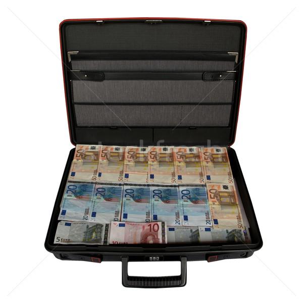 Walizkę ceny euro waluta strony Zdjęcia stock © claudiodivizia