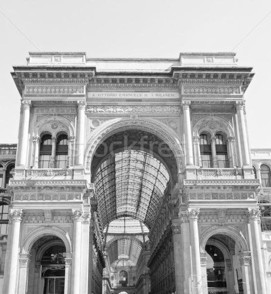Galleria Vittorio Emanuele II, Milan Stock photo © claudiodivizia