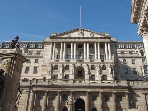 Stockfoto: Bank · Engeland · historisch · gebouw · Londen · vintage