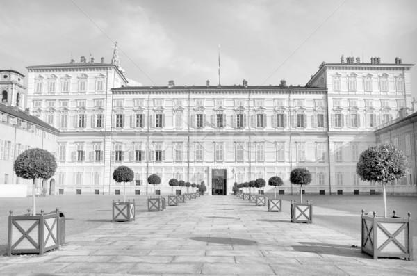 Torino királyi palota Olaszország magas dinamikus Stock fotó © claudiodivizia