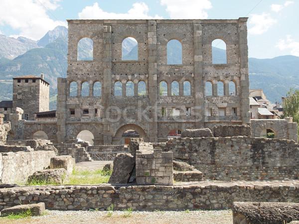 Roman Theatre Aosta Stock photo © claudiodivizia