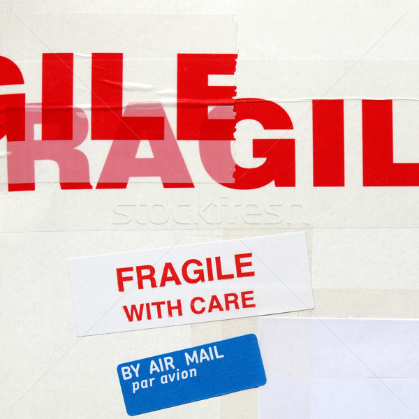 Fragile étiquette tag Photo stock © claudiodivizia