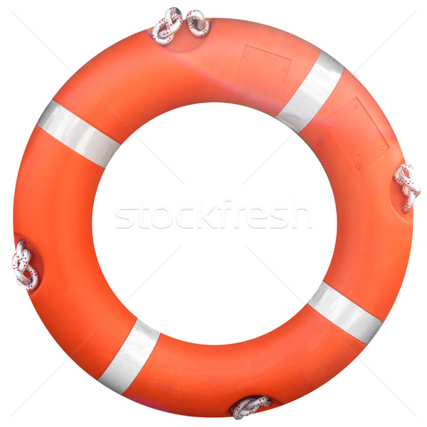 Foto stock: Salvavidas · aislado · blanco · agua · mar · salud