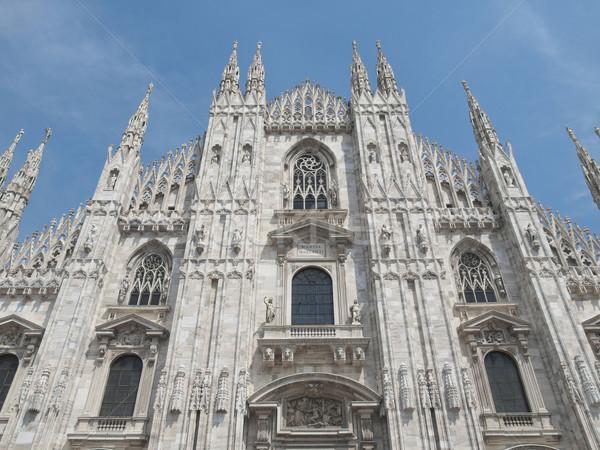 Milan gothique cathédrale église Italie Photo stock © claudiodivizia