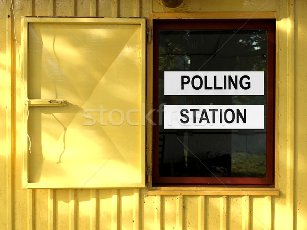 Polling station Stock photo © claudiodivizia