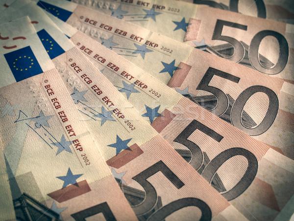 Retro look Euro note Stock photo © claudiodivizia