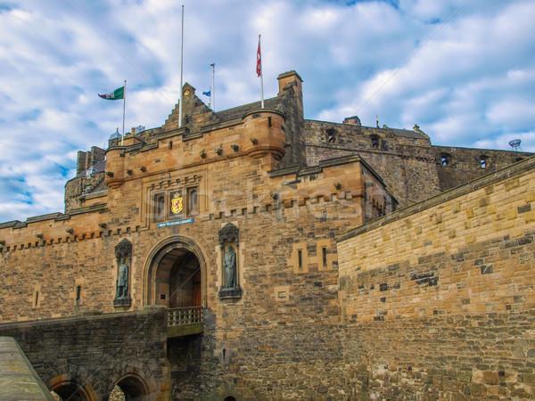 Edinburgh kastély Skócia építészet Stock fotó © claudiodivizia