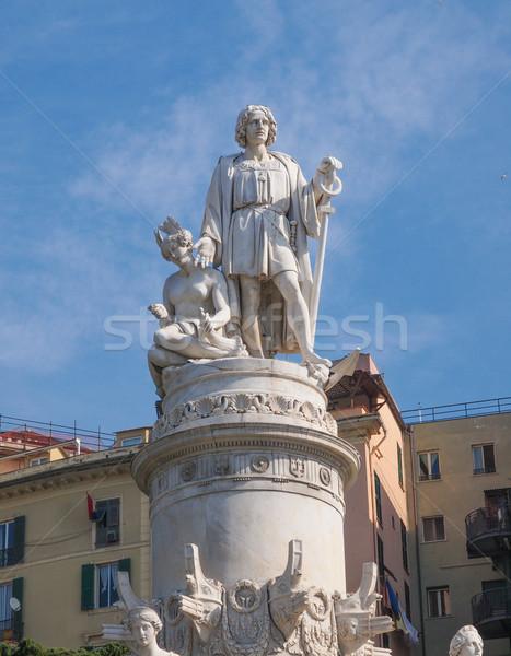 Columbus monument in Genoa Stock photo © claudiodivizia