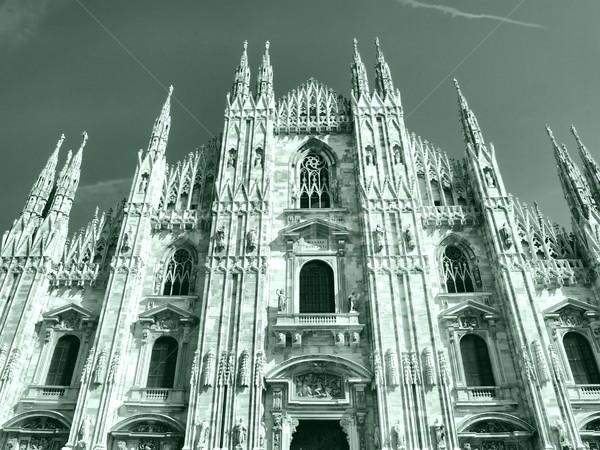ミラノ ミラノ ゴシック 大聖堂 教会 高い ストックフォト © claudiodivizia